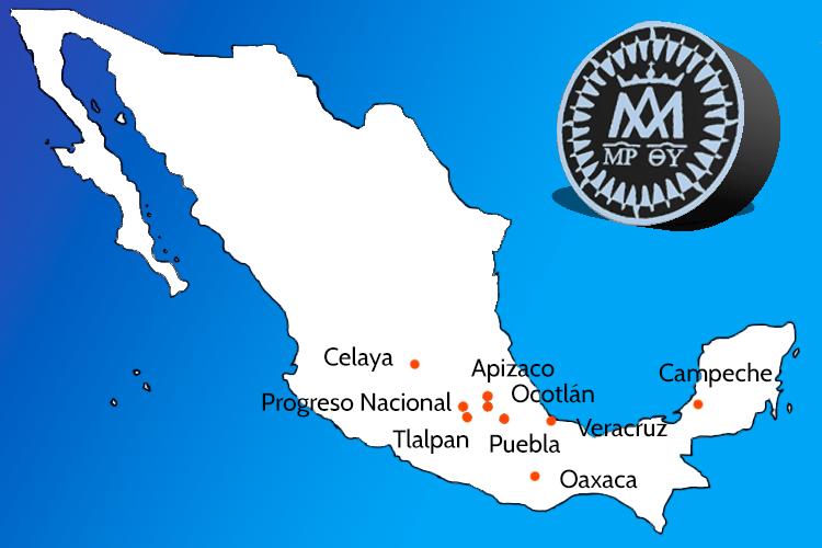 Mapa de las escuelas pías de México